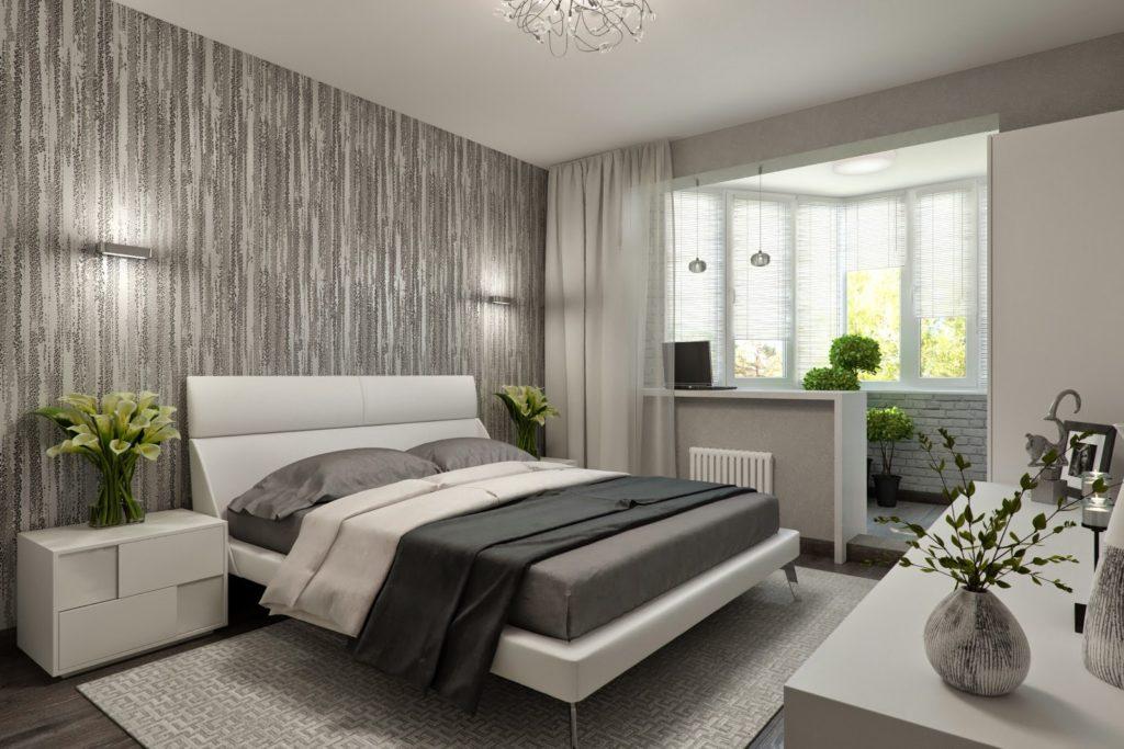 Как обустроить спальню с выходом на балкон