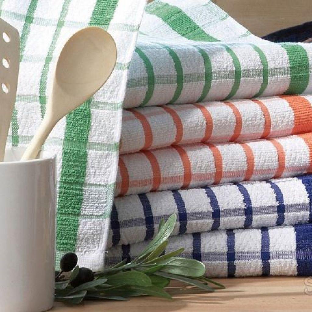 Как постирать кухонные полотенца в домашних условиях