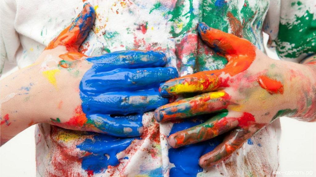 Как вывести засохшие пятна от масляной краски с одежды
