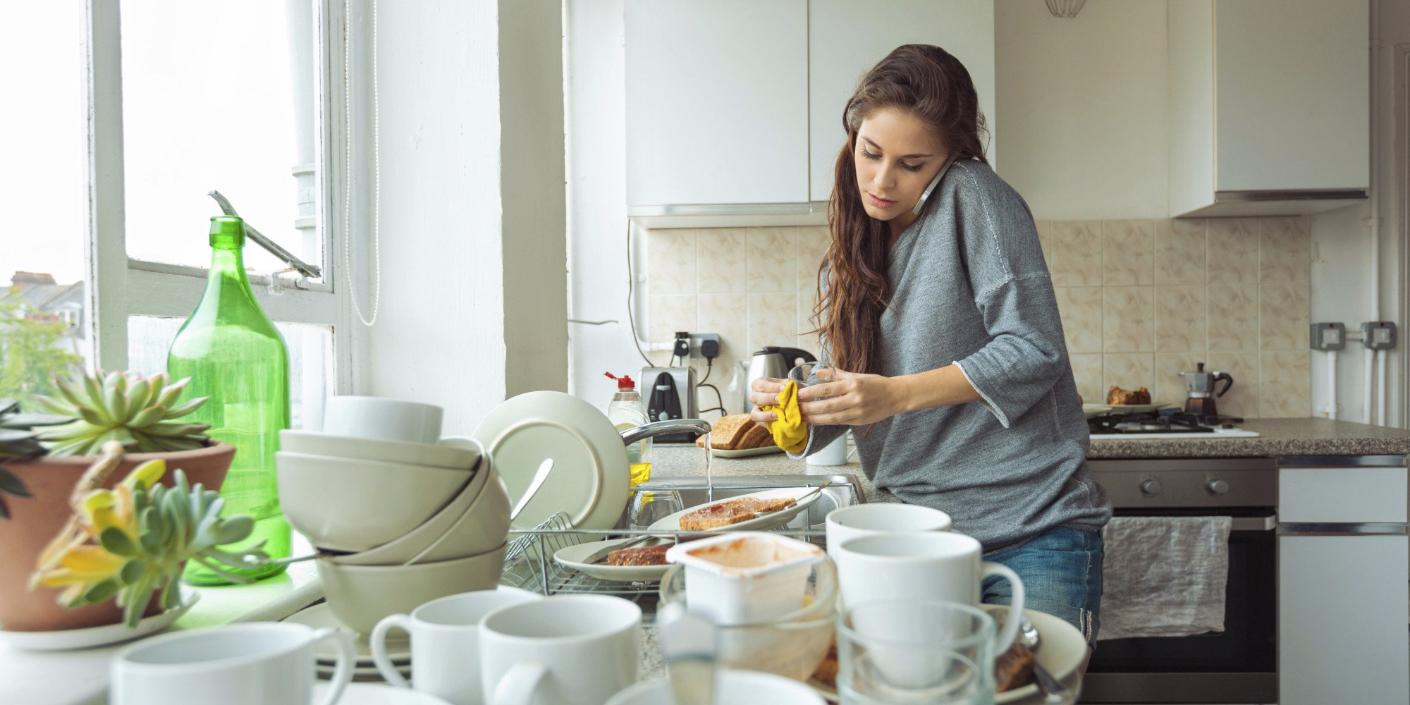 Как правильно мыть посуду из стекла чтобы она блестела