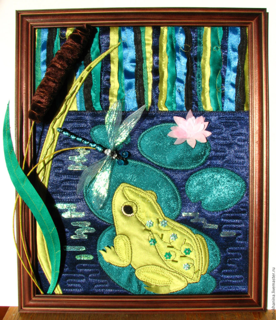 Картины из ткани - как создать своими руками украшение интерьера