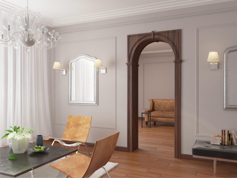 именно как оформить дверной проем без двери фото первой