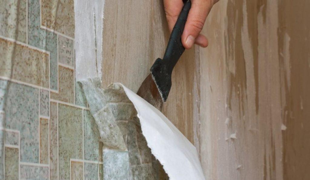 Как удалить обои с гипсокартоновой стены