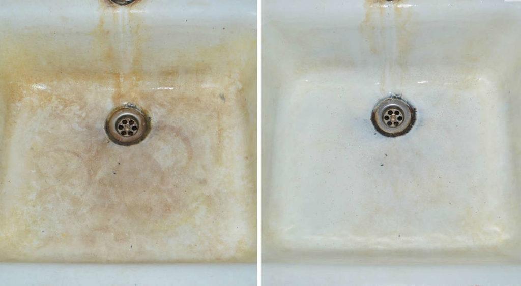 Как быстро отмыть сантехнику от известкового налета