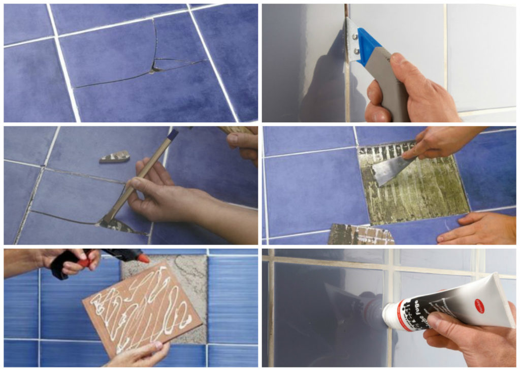 Что делать, если на керамической плитке появились сколы