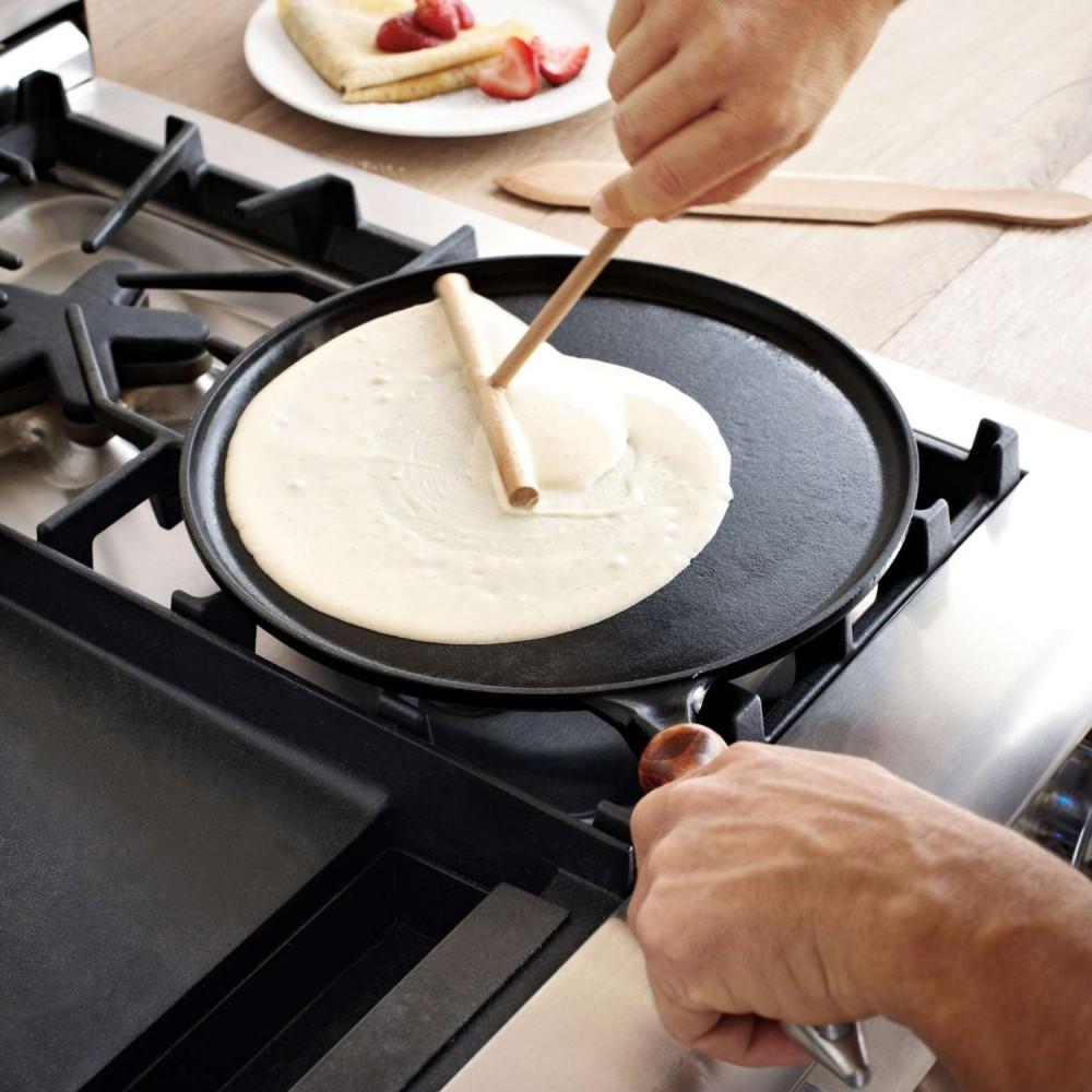 Как быстро очистить блинную сковородку