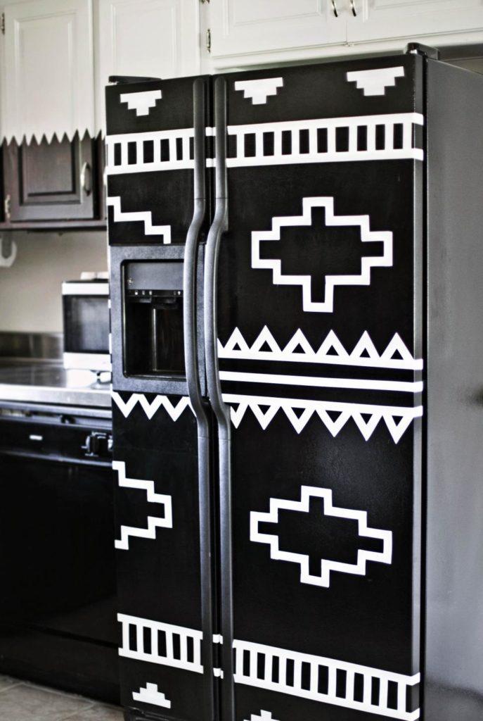 Крашеный холодильник: как своими руками сделать яркий акцент на кухне