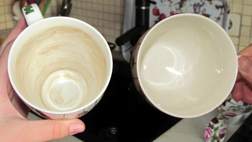 Чем удалить желтый налет с фарфоровой посуды