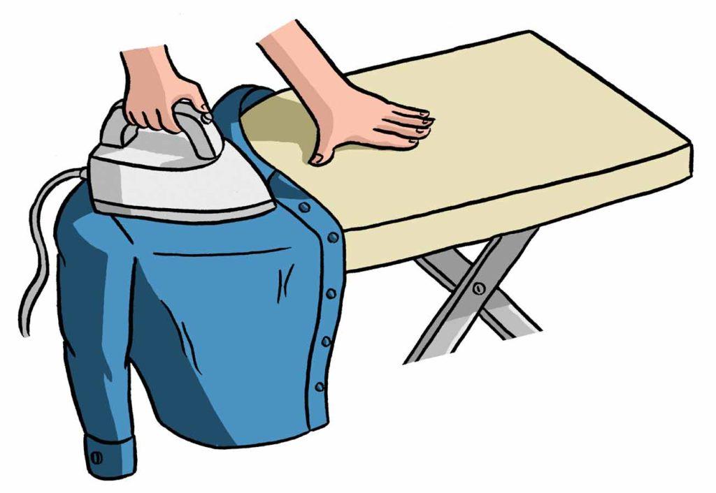Как правильно гладить рубашку и блузку