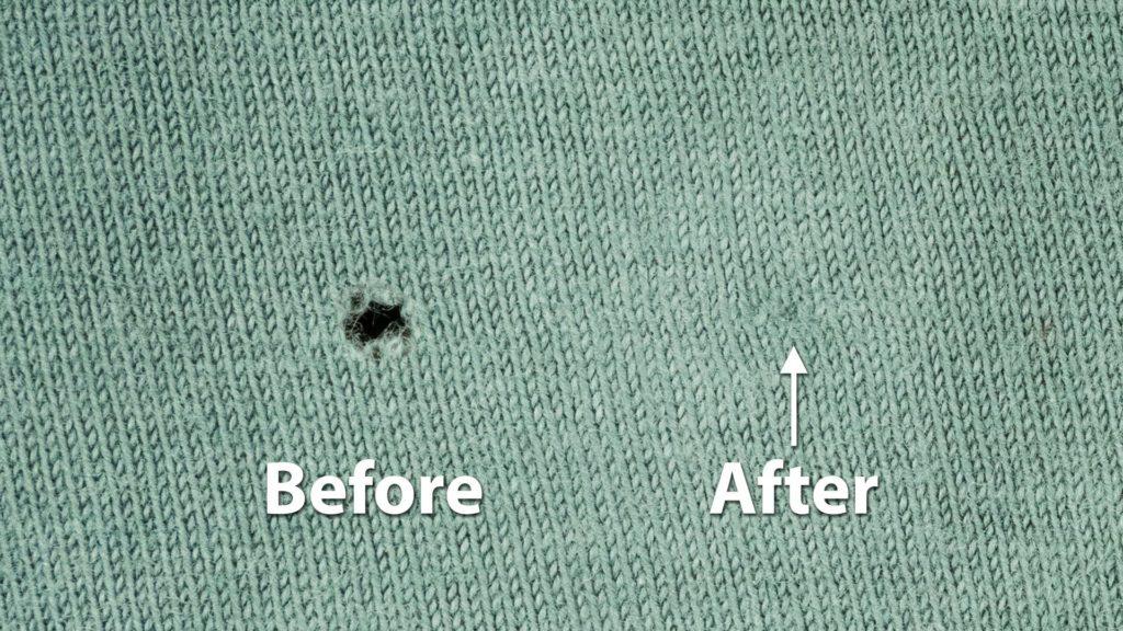 Как незаметно зашить дырку на одежде