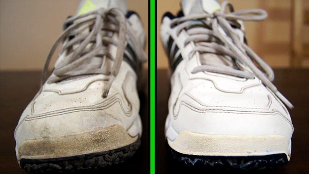 Как отбелить белые кожанные кроссовки своими руками