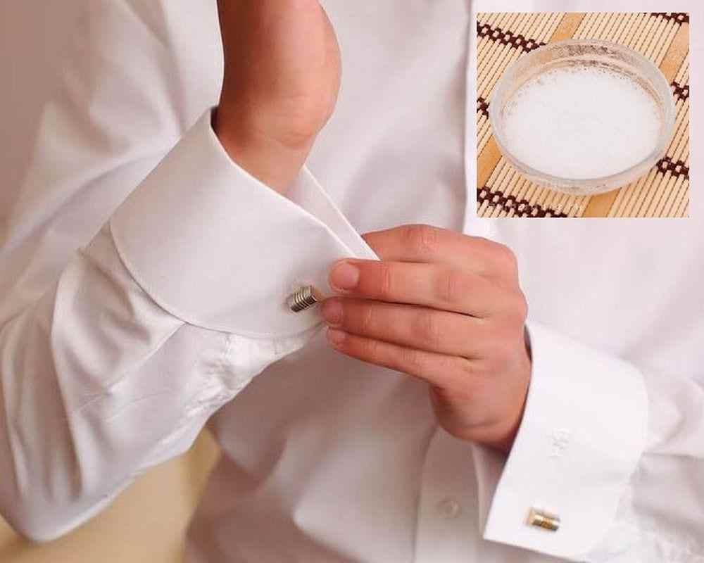 Как отбелить воротничок белой рубашки